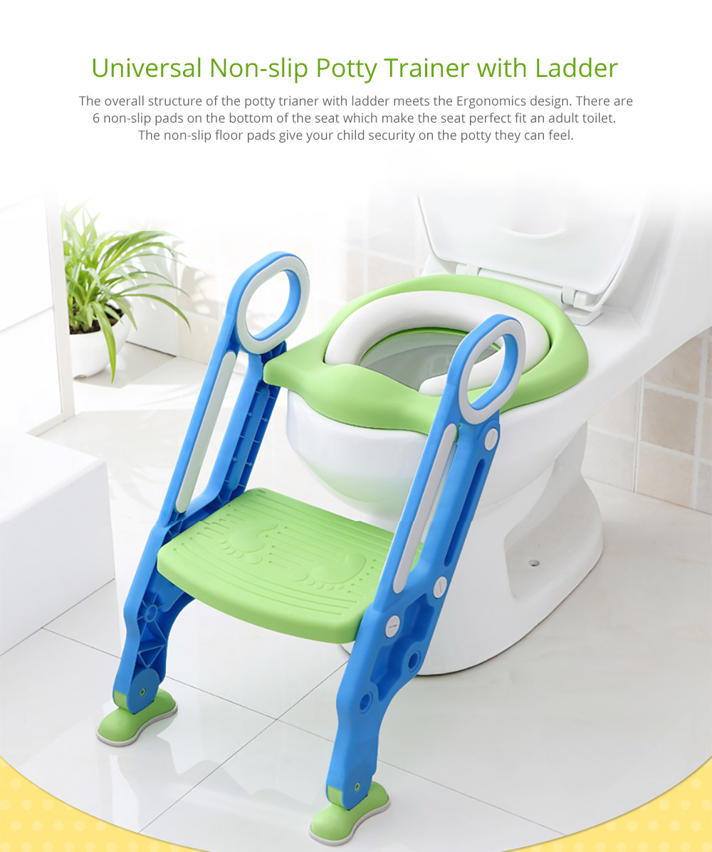 Toilet Training Seat with Non-slip Ladder for Girls Boys Potty Trianer with Step Tool Ladder for Kids 6