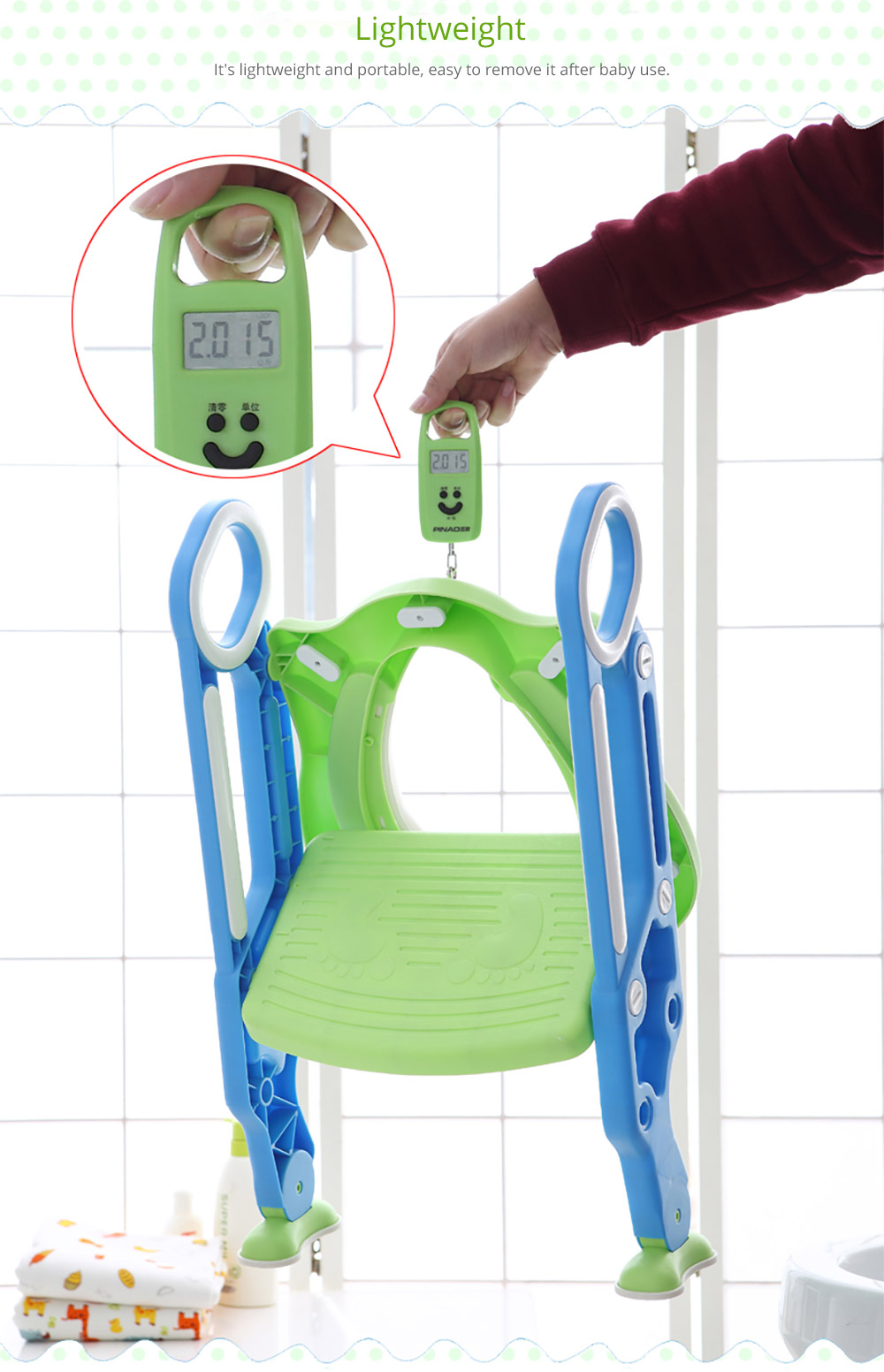 Toilet Training Seat with Non-slip Ladder for Girls Boys Potty Trianer with Step Tool Ladder for Kids 8