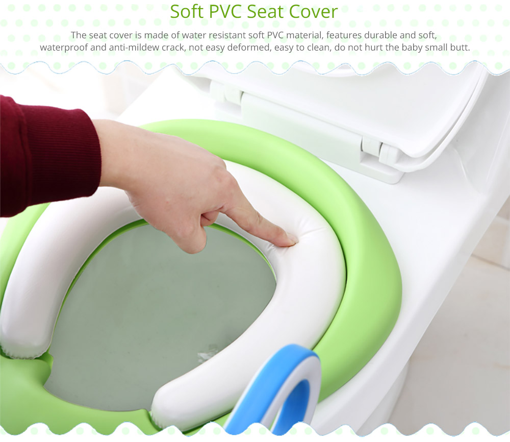 Toilet Training Seat with Non-slip Ladder for Girls Boys Potty Trianer with Step Tool Ladder for Kids 9