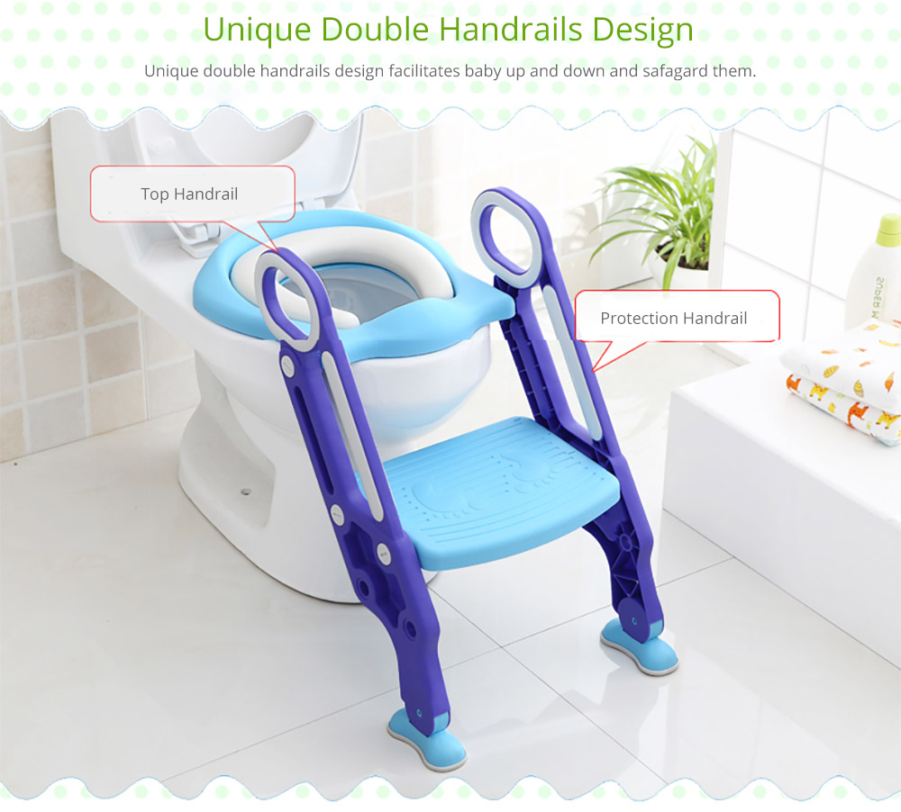 Toilet Training Seat with Non-slip Ladder for Girls Boys Potty Trianer with Step Tool Ladder for Kids 10