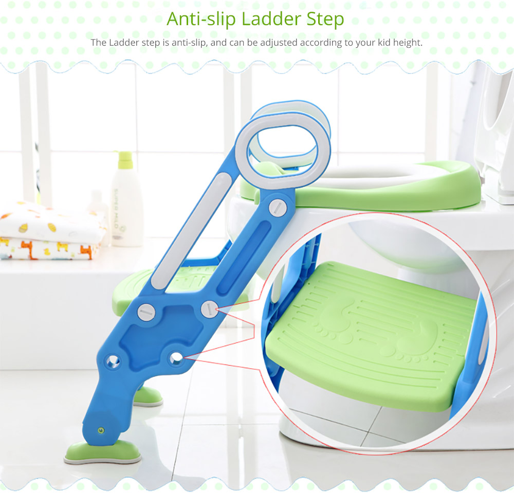 Toilet Training Seat with Non-slip Ladder for Girls Boys Potty Trianer with Step Tool Ladder for Kids 11