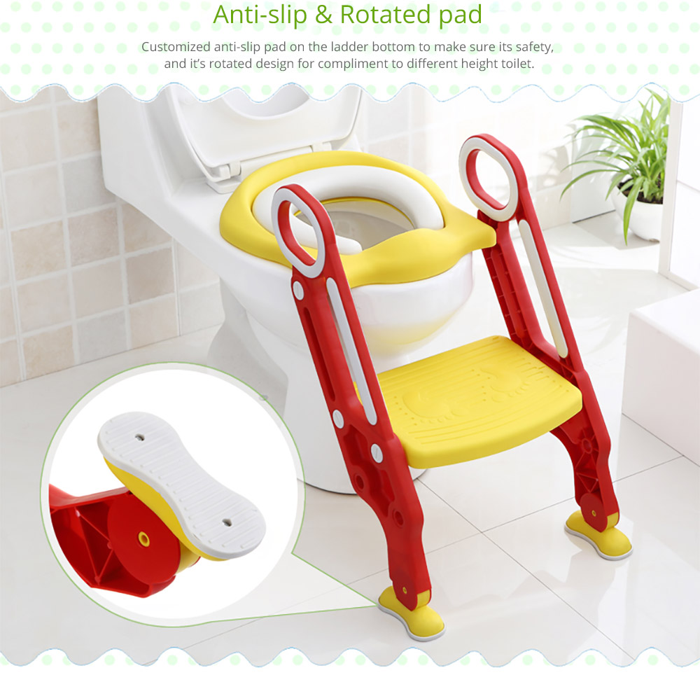 Toilet Training Seat with Non-slip Ladder for Girls Boys Potty Trianer with Step Tool Ladder for Kids 12