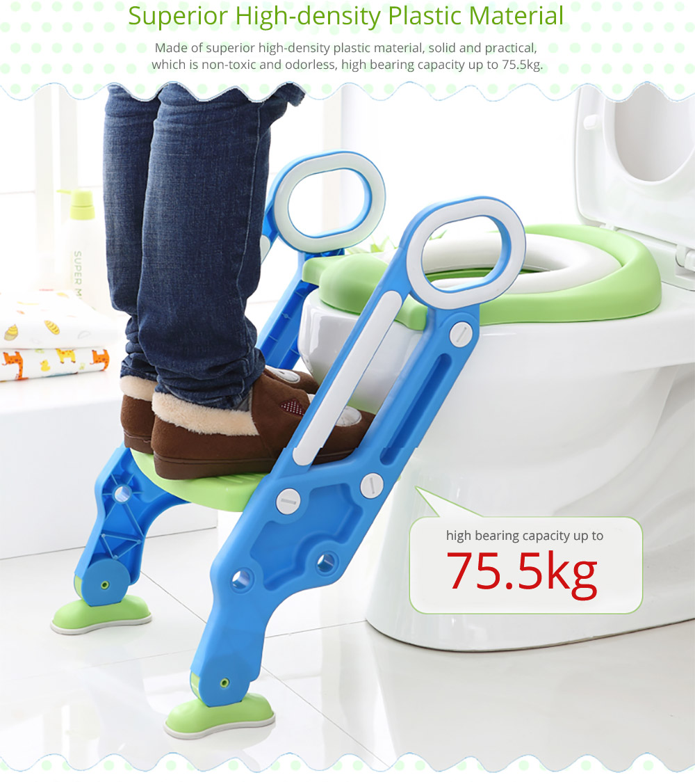 Toilet Training Seat with Non-slip Ladder for Girls Boys Potty Trianer with Step Tool Ladder for Kids 13