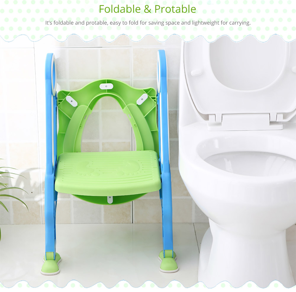 Toilet Training Seat with Non-slip Ladder for Girls Boys Potty Trianer with Step Tool Ladder for Kids 14