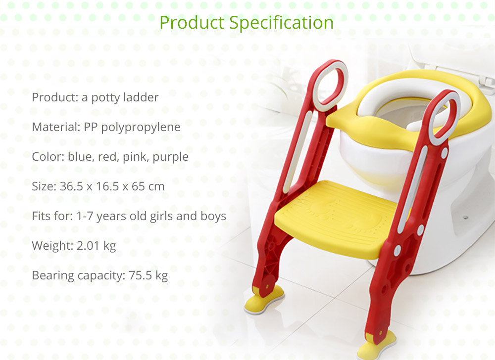 Toilet Training Seat with Non-slip Ladder for Girls Boys Potty Trianer with Step Tool Ladder for Kids 17