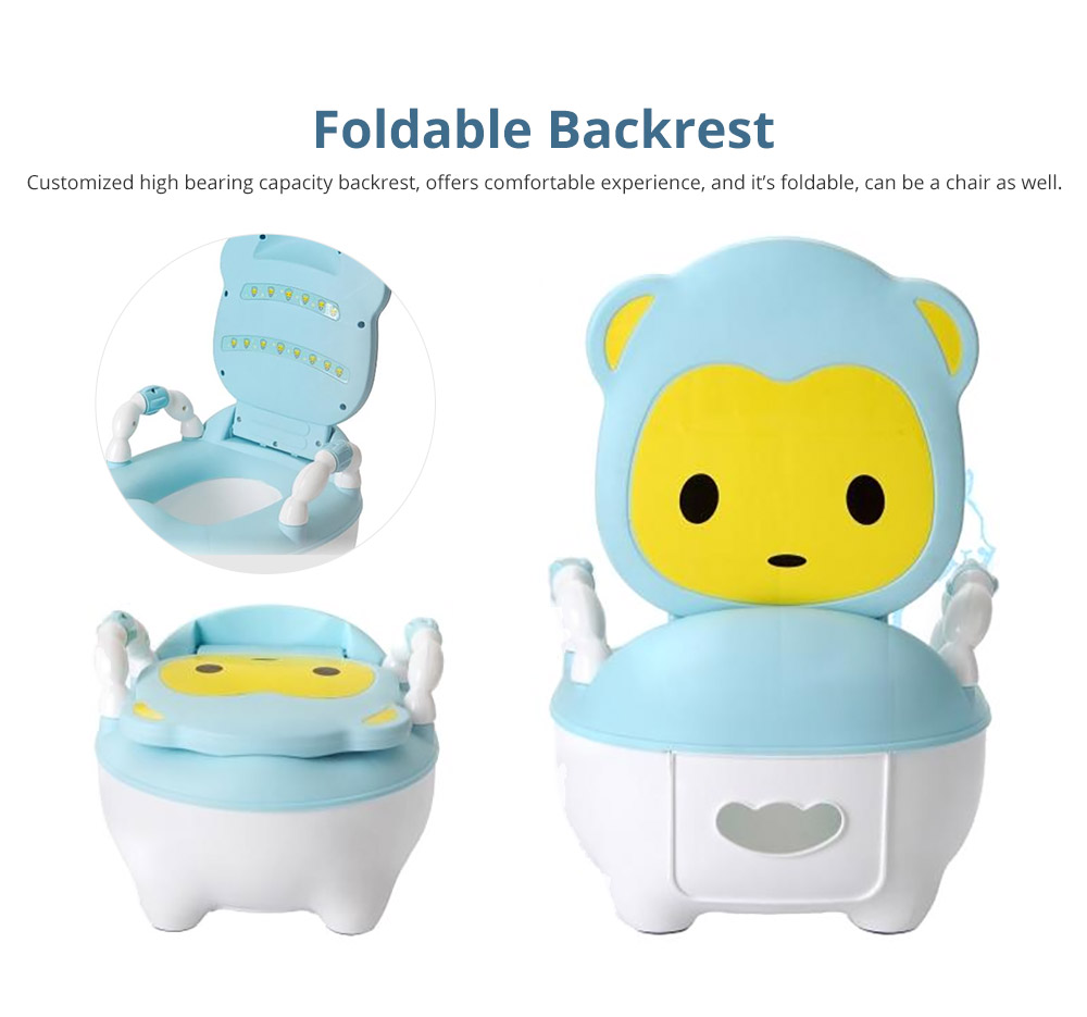 Multipurpose Toilet Training Seat with Soft PU Leather Cushion for Girls Boys Drawer Potty Trianer with Non-slip Mat Sturdy Armrest for 1-8 Years Old Kids Mini Closestool 7