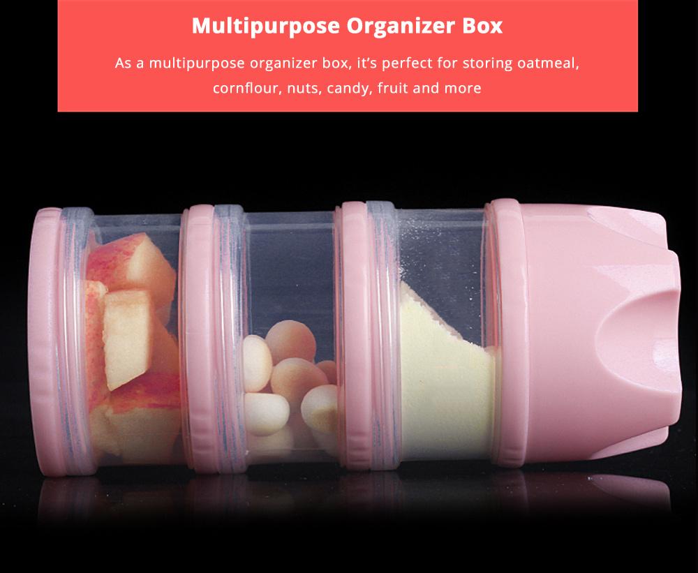 Universal Portable Milk Powder Dispenser Food Grade BPA Free Milk Powder Storage Box 3 Layer Individual Milk Powder Organizer Case 7