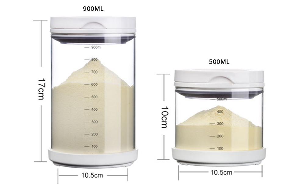 Multipurpose Milk Powder Dispenser for Outdoors, Food Grade BPA Free 3 Layer Individual Milk Powder Storage Box Food Organizer Case Snack Cups 7