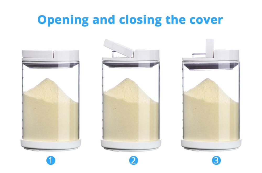 Multipurpose Milk Powder Dispenser for Outdoors, Food Grade BPA Free 3 Layer Individual Milk Powder Storage Box Food Organizer Case Snack Cups 9