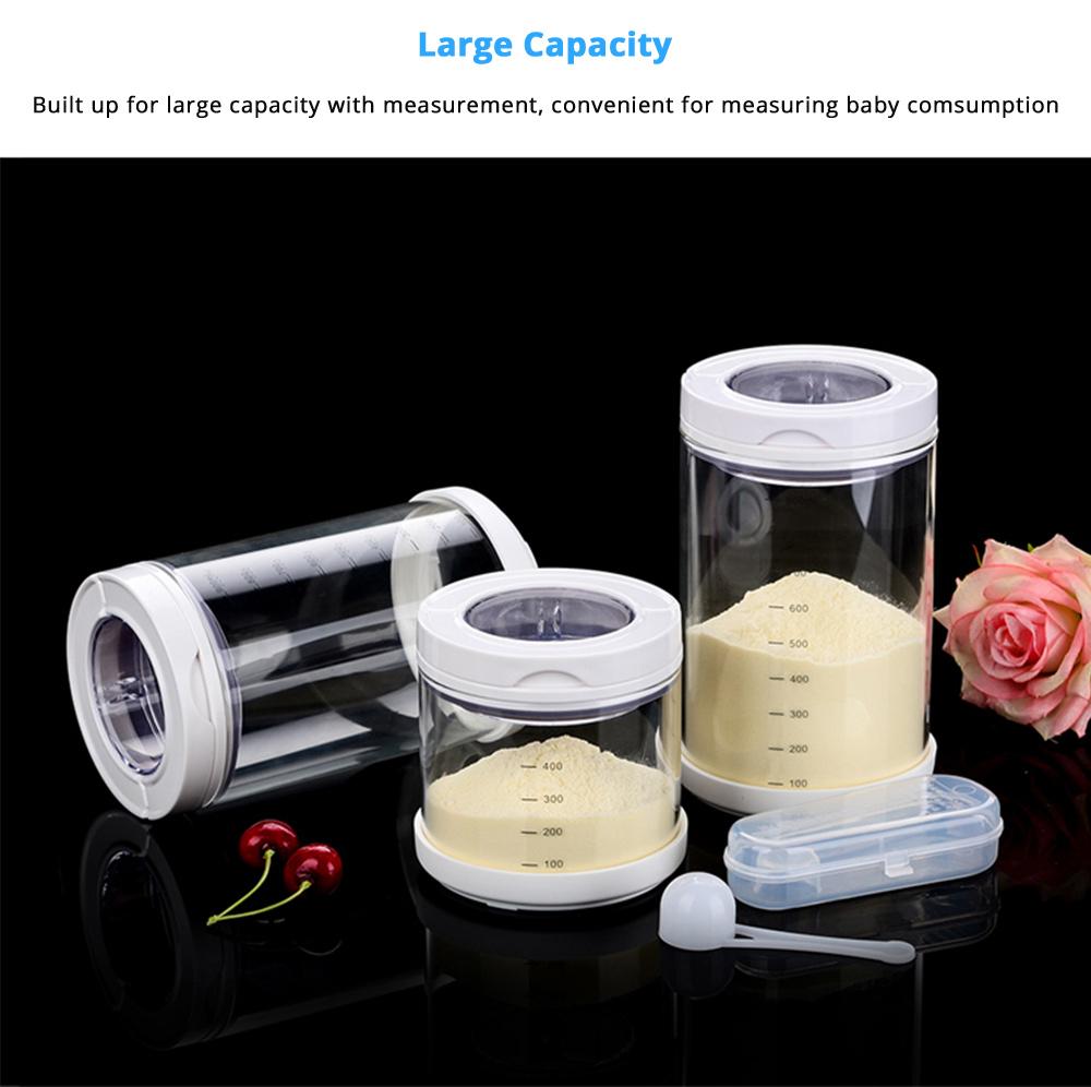 Multipurpose Milk Powder Dispenser for Outdoors, Food Grade BPA Free 3 Layer Individual Milk Powder Storage Box Food Organizer Case Snack Cups 12