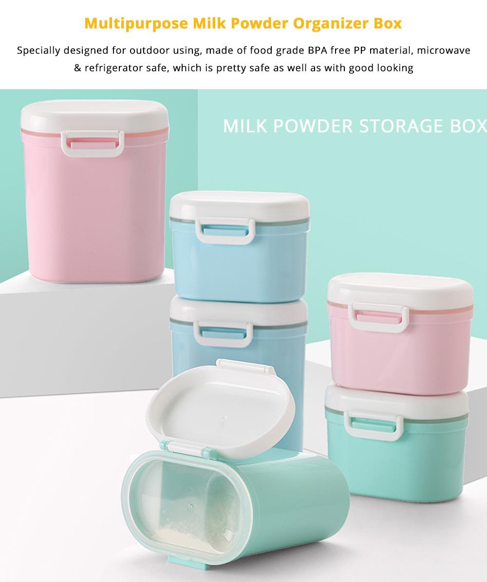 BPA Free Milk Powder Organizer Box for Household Outdoors Shopping Travelling, Universal Food Grade Multipurpose Individual Milk Powder Storage Case Snack Cups Microwave & Refrigerator Safe 6