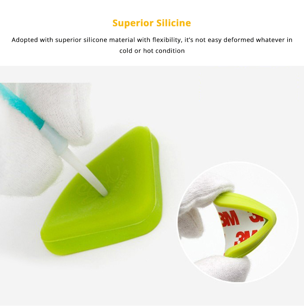 8 PCS Universal Flexible Collision Prevention Anti-impact Corner Protector with Double-sided Adhesive for Furniture Against Sharp Corners 7
