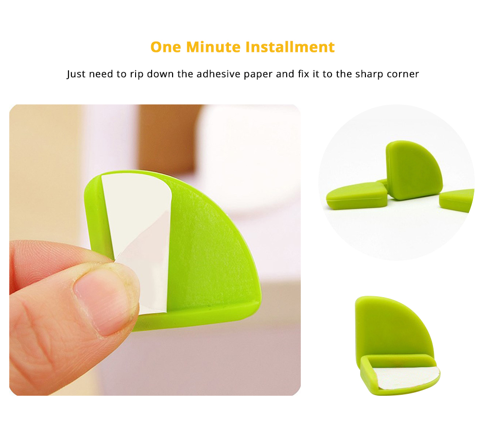8 PCS Universal Flexible Collision Prevention Anti-impact Corner Protector with Double-sided Adhesive for Furniture Against Sharp Corners 9