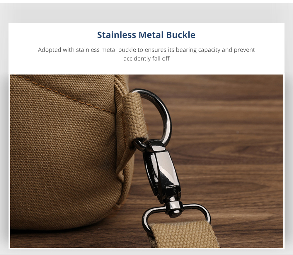 Vintage Durable Multipurpose Men's Crossbody Bag Breathable Large Capacity Backpack with Headphone Port Stainless Metal Buckle 11