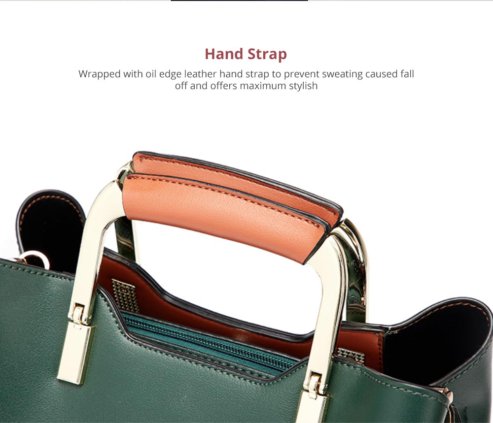 Fashionable Elegant Women's Handbag with Magnetic Button Stylish Durable Women's Briefcase with Shoulder Strap Crossbody Bag 6