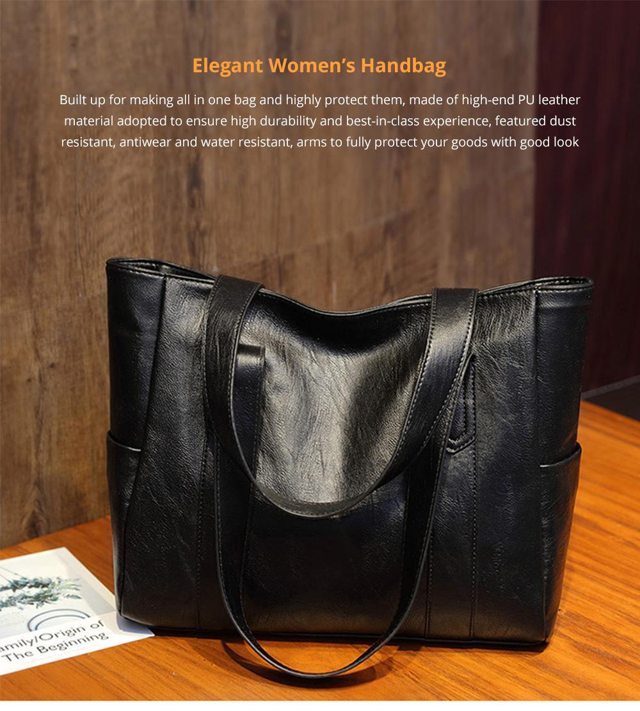 Durable Soft Elegant Women's Shoulder Bag, Large Capacity Sleek Women's Briefcase Handbag for Shipping, Outdoors, Traveling 6