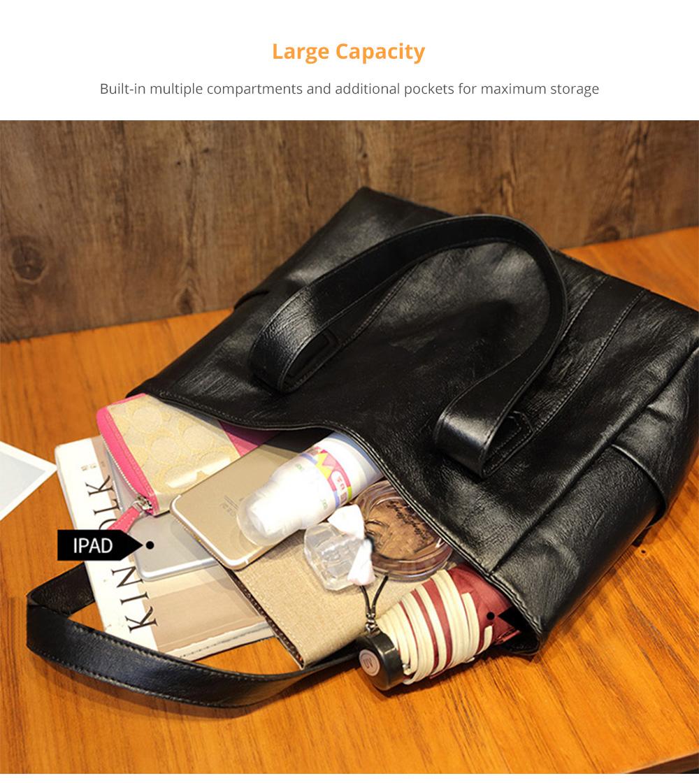 Durable Soft Elegant Women's Shoulder Bag, Large Capacity Sleek Women's Briefcase Handbag for Shipping, Outdoors, Traveling 7