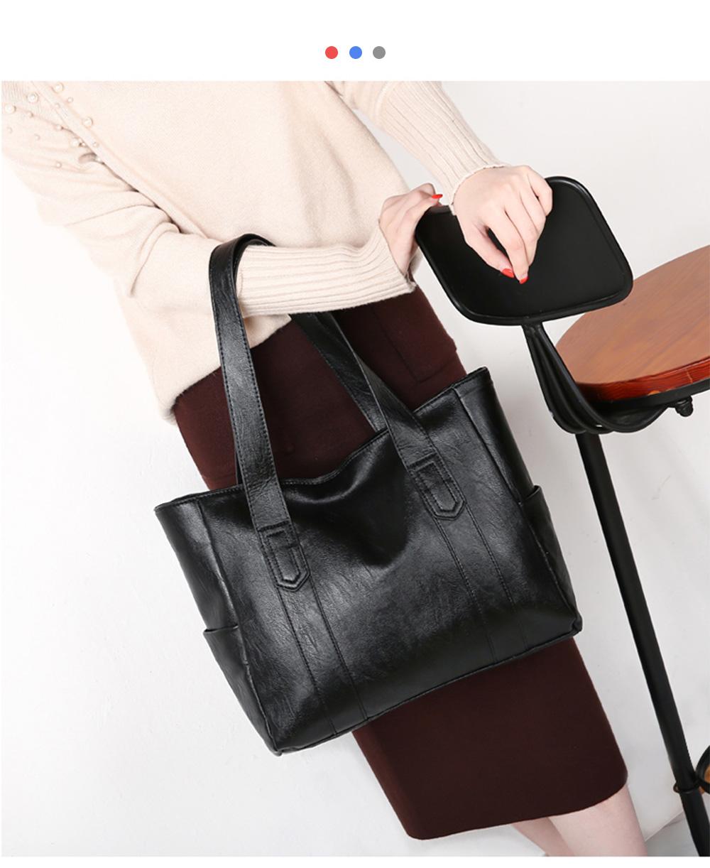 Durable Soft Elegant Women's Shoulder Bag, Large Capacity Sleek Women's Briefcase Handbag for Shipping, Outdoors, Traveling 11