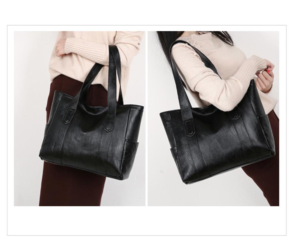 Durable Soft Elegant Women's Shoulder Bag, Large Capacity Sleek Women's Briefcase Handbag for Shipping, Outdoors, Traveling 12