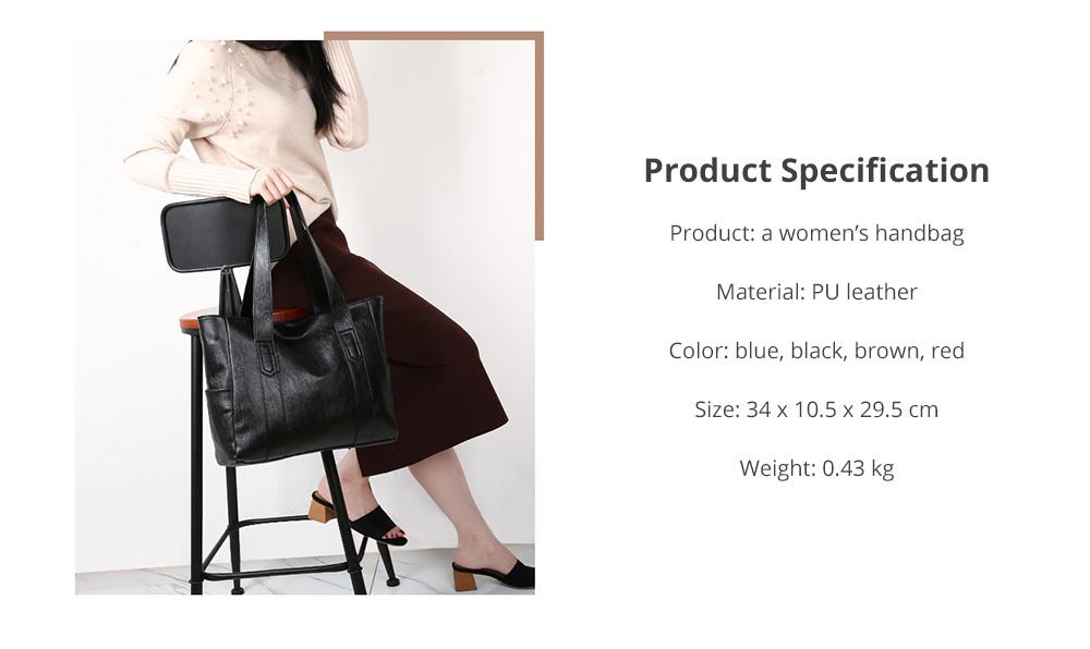 Durable Soft Elegant Women's Shoulder Bag, Large Capacity Sleek Women's Briefcase Handbag for Shipping, Outdoors, Traveling 13