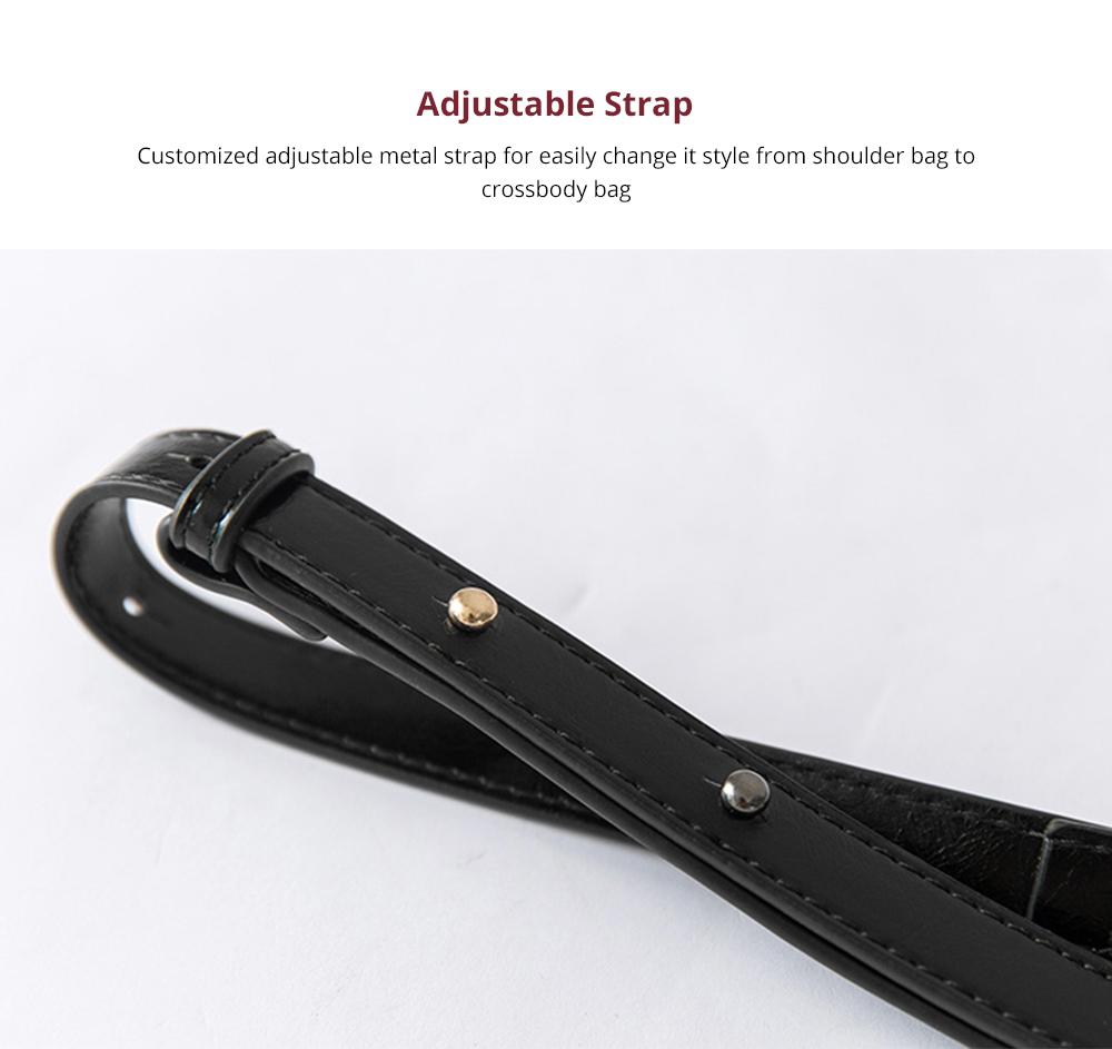 Luxurious Ling Plaid Leather Handbag Women's Party Shoulder Bag, Premium Sleek Leather Crossbody Bag with Adjustable Metal Shoulder Strap 9