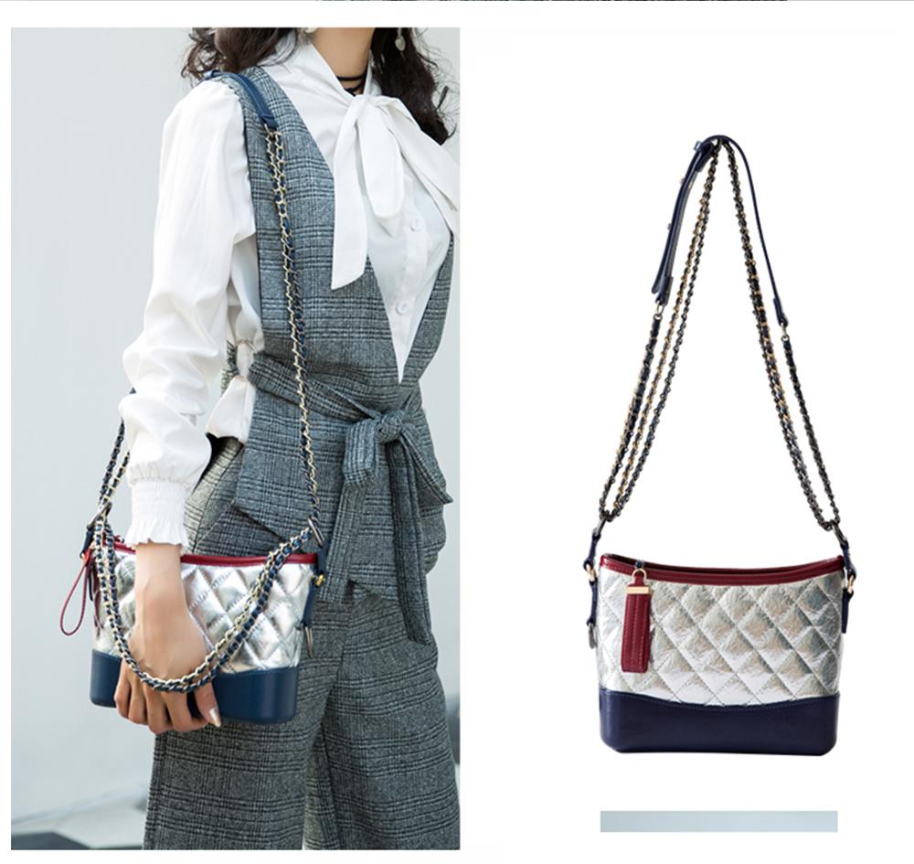 Luxurious Ling Plaid Leather Handbag Women's Party Shoulder Bag, Premium Sleek Leather Crossbody Bag with Adjustable Metal Shoulder Strap 13
