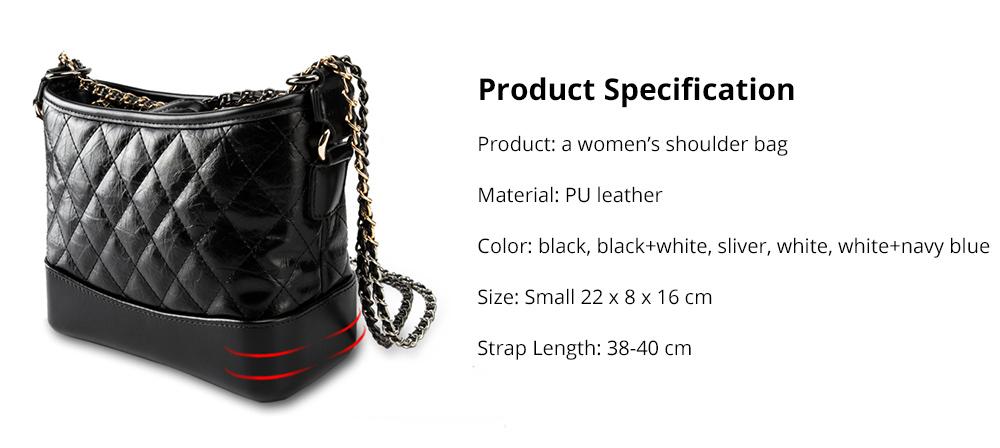 Luxurious Ling Plaid Leather Handbag Women's Party Shoulder Bag, Premium Sleek Leather Crossbody Bag with Adjustable Metal Shoulder Strap 17