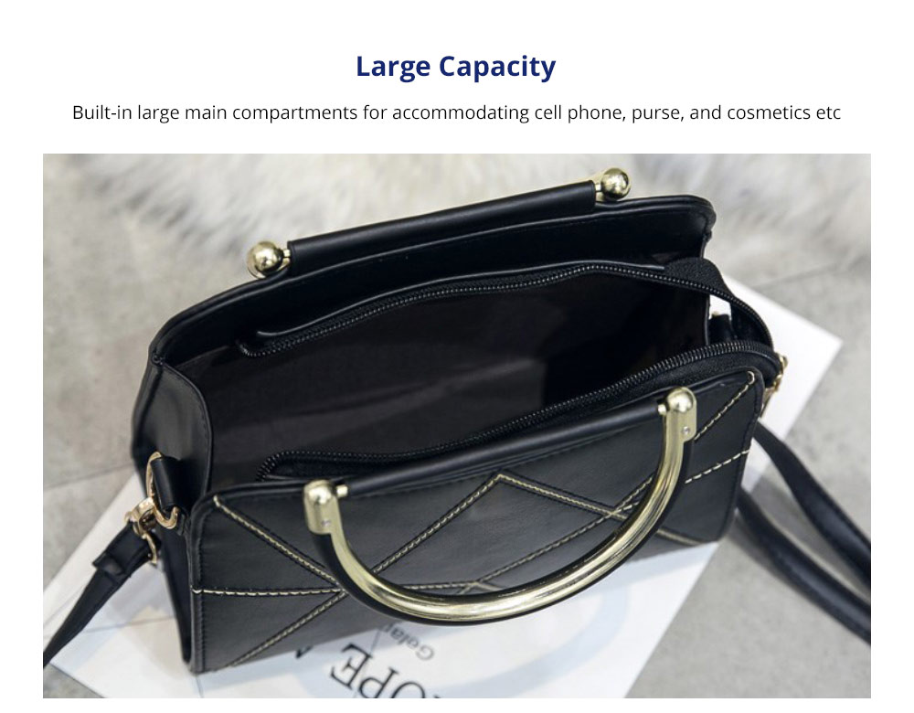 Women's Briefcase - Premium Luxurious Stitching All-matching Handbag Shoulder Bag with Adjustable Shoulder Strap for Women, Superior Crossbody Bag 7