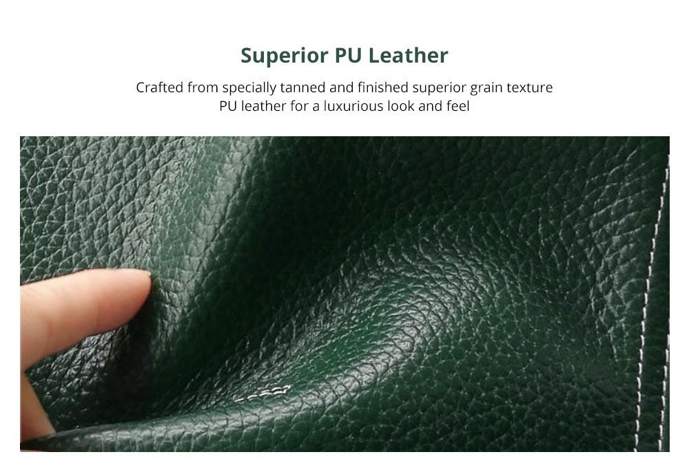 Women's Wallet with Multiple Compartments Card Slots Zipper Pocket, Lightweight Slim Sleek Women's Purse Grain Texture Soft Vintage Purse 6