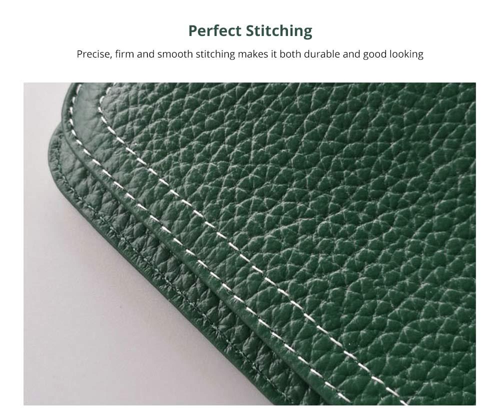 Women's Wallet with Multiple Compartments Card Slots Zipper Pocket, Lightweight Slim Sleek Women's Purse Grain Texture Soft Vintage Purse 9