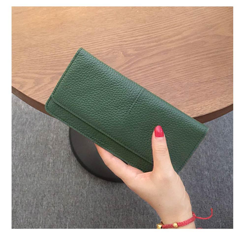 Women's Wallet with Multiple Compartments Card Slots Zipper Pocket, Lightweight Slim Sleek Women's Purse Grain Texture Soft Vintage Purse 11