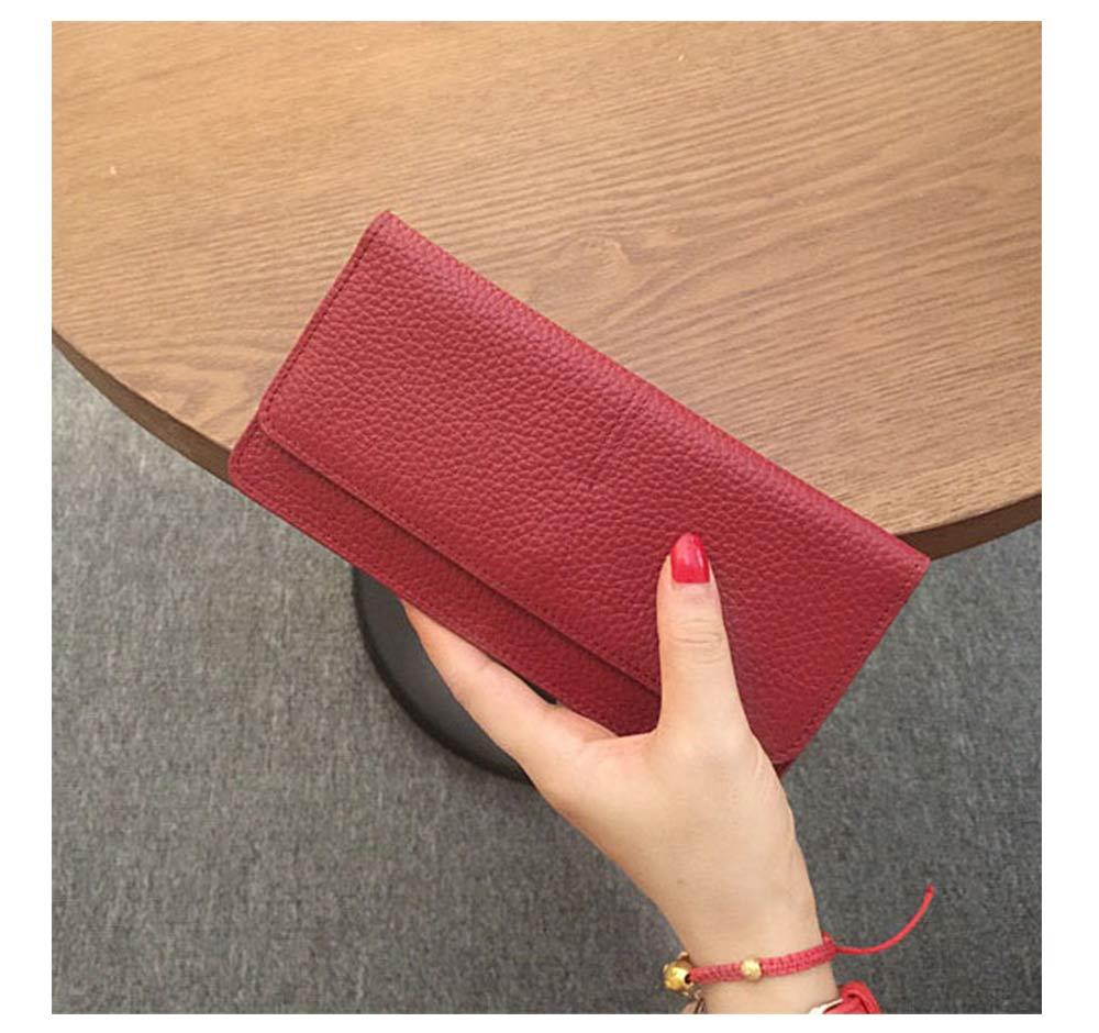 Women's Wallet with Multiple Compartments Card Slots Zipper Pocket, Lightweight Slim Sleek Women's Purse Grain Texture Soft Vintage Purse 13