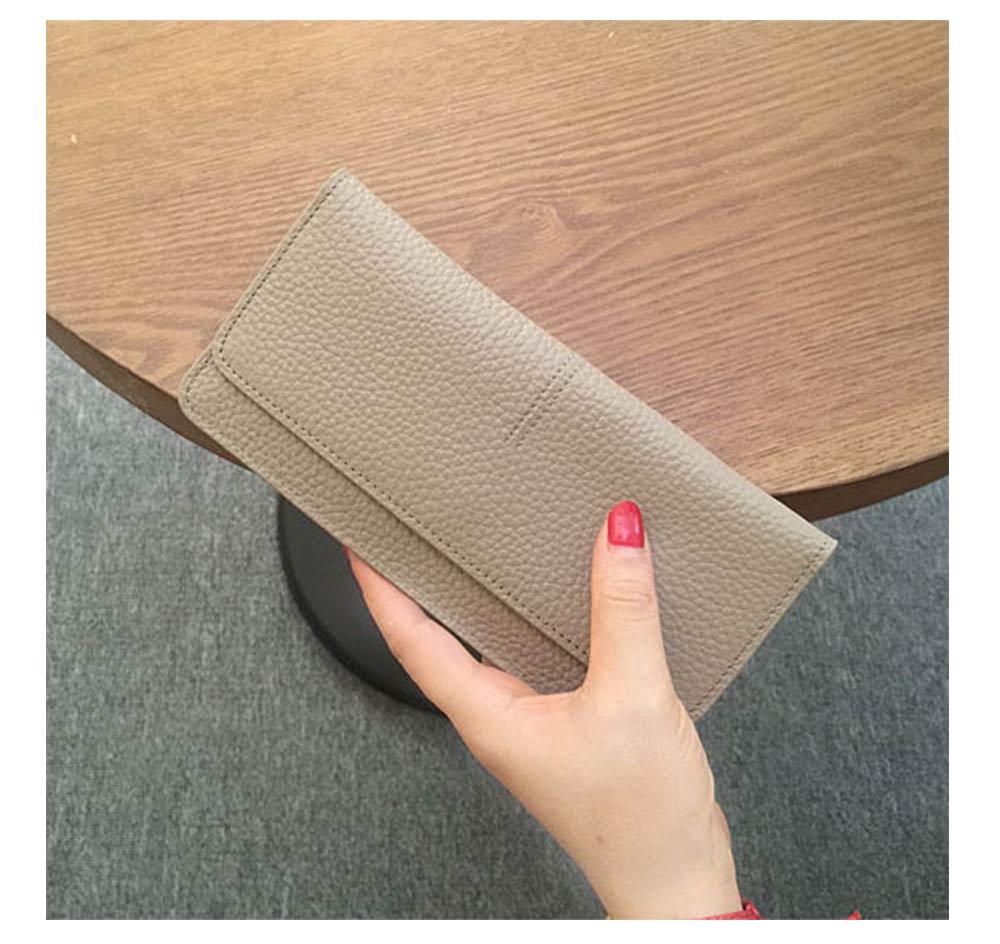 Women's Wallet with Multiple Compartments Card Slots Zipper Pocket, Lightweight Slim Sleek Women's Purse Grain Texture Soft Vintage Purse 14