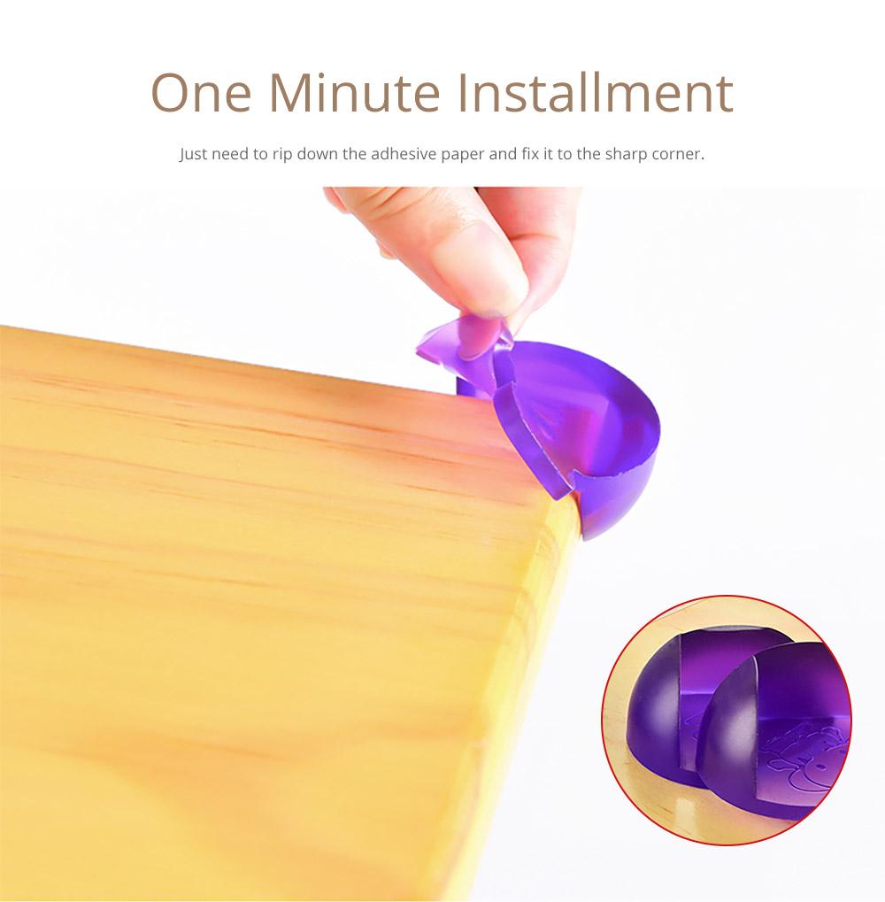Universal Anti-impact Flexible Silicone Protective Cover for Windows Desks Tables Sharps Corner Soft Collision Prevention Corner Protector 8