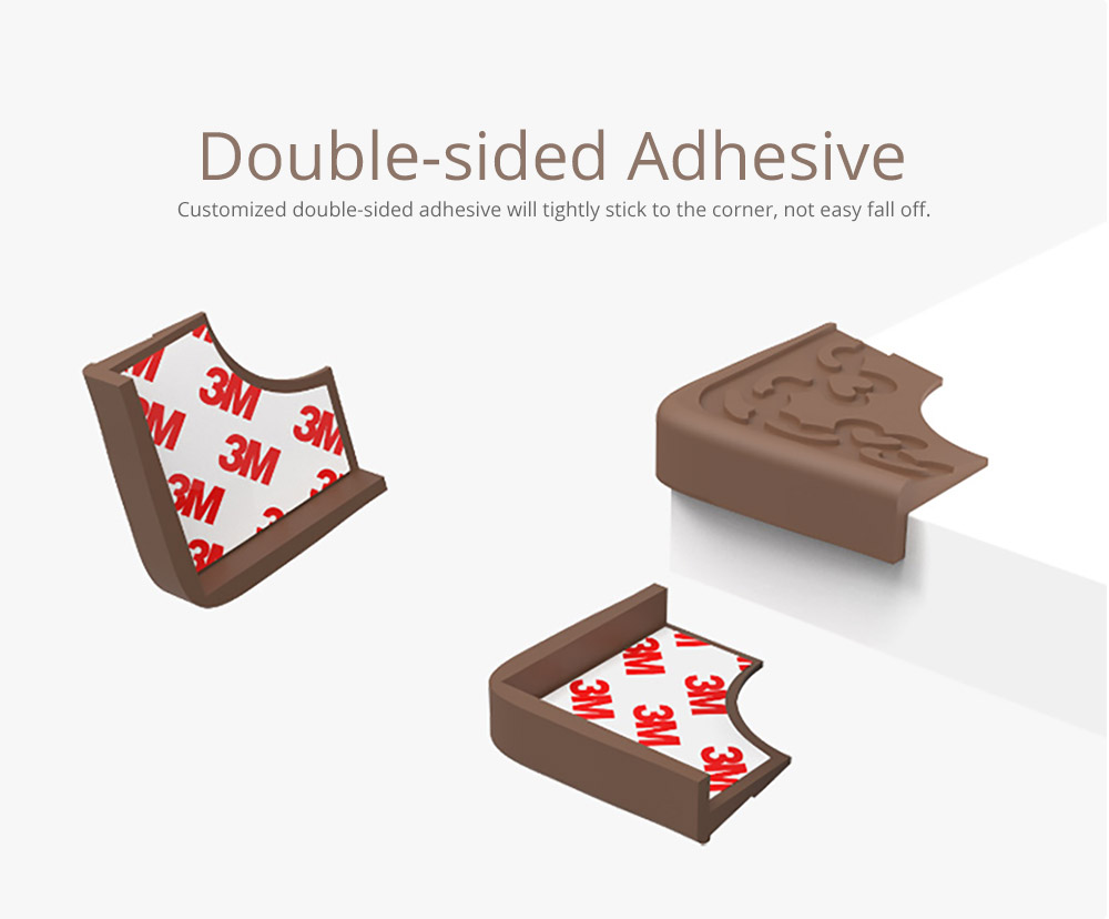 Soft Silicone Collision Table Corner Guards with Double-sided Adhesive for Furniture Against Sharp Corners, Universal Furniture Corner Protectors, 8 Pack 15