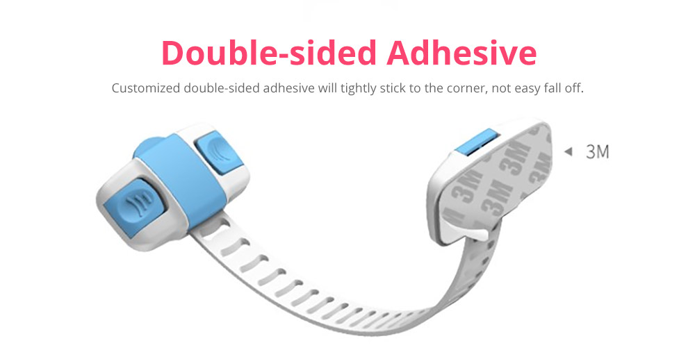 Baby Corner Guards Safety Accessories, Universal Adjustable Latch with 3M Double-sided Adhesive for Cabinets Drawers Toilets Children Proofing Lock 10