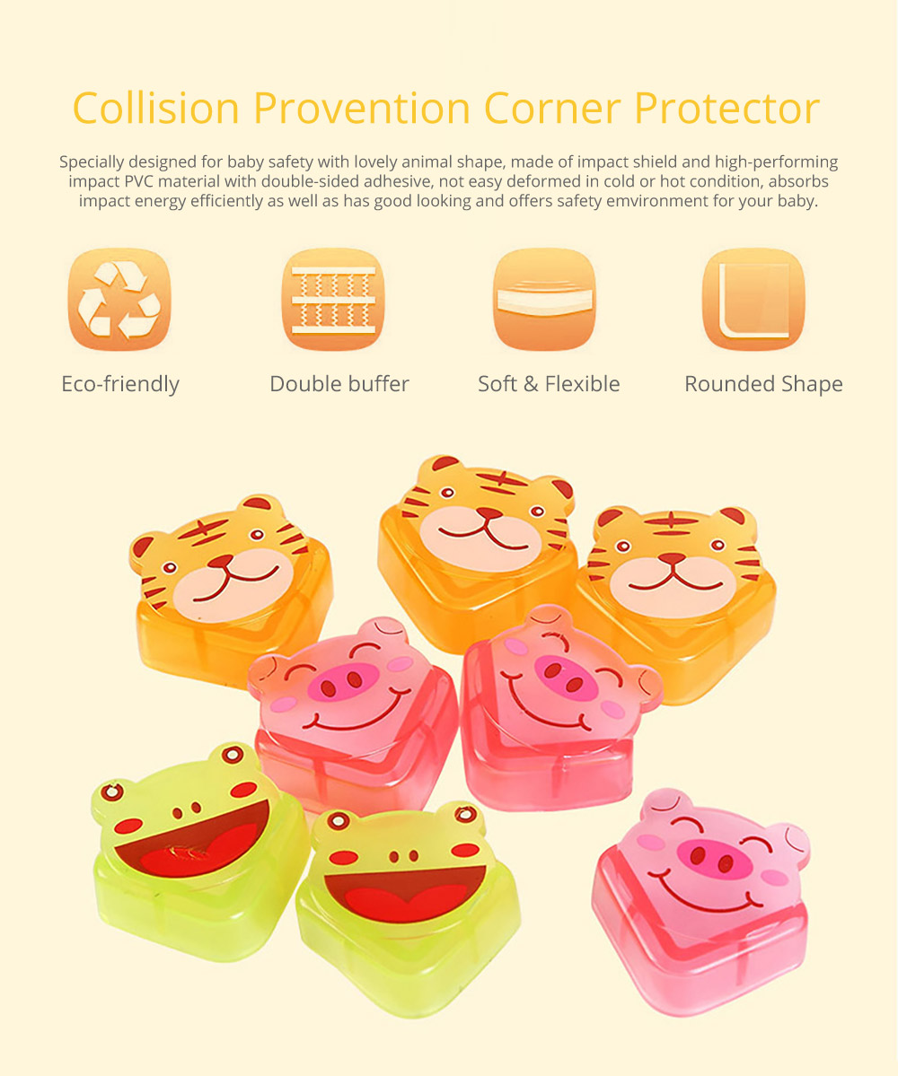 Cute Animal Shape Flexible Collision Prevention Corner Protector with Double-sided Adhesive for Furniture Against Sharp Corners, 8 Pack  6