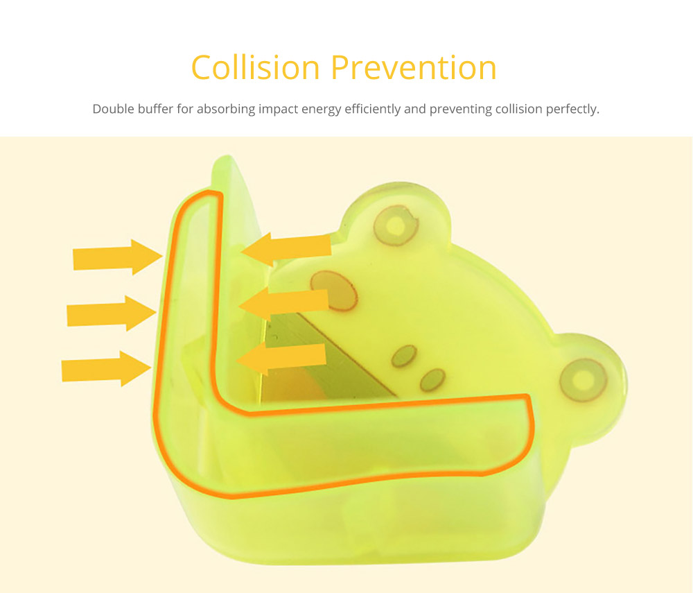 Cute Animal Shape Flexible Collision Prevention Corner Protector with Double-sided Adhesive for Furniture Against Sharp Corners, 8 Pack  8