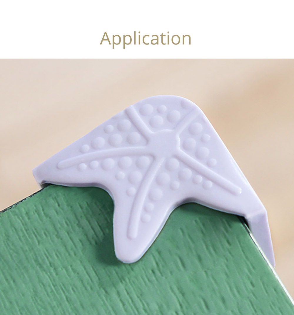 Starfish Eco-friendly Silicone Universal Collision Prevention Protective Cover with Double-sided Adhesive for Furniture Against Sharp Corners Flexible Thicken Impact Shield Corner Protector 12