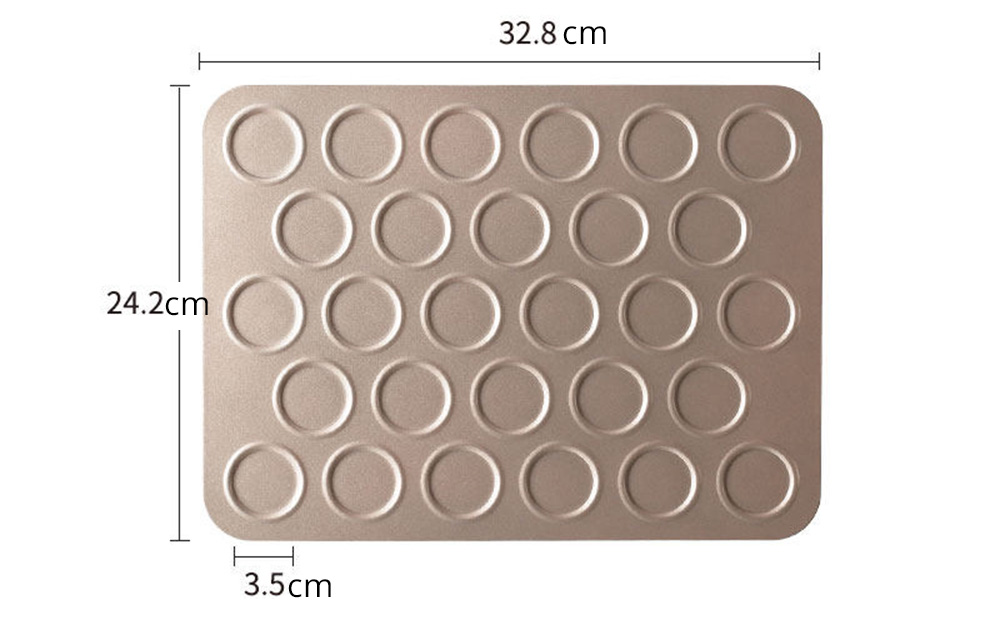 Universal Food Grade Nonstick Bakeware for Cookie Macarons, Carbon Steel Quick Release Coating Cupcake, Puff and Muffin Pan 13