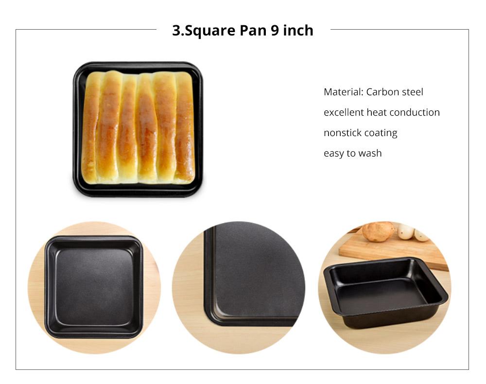 Premium Nonstick Bakeware Set 7 Pieces, Food Grade Dishwasher Safe Carbon Steel Kitchen Baking Pans Household Essential 13