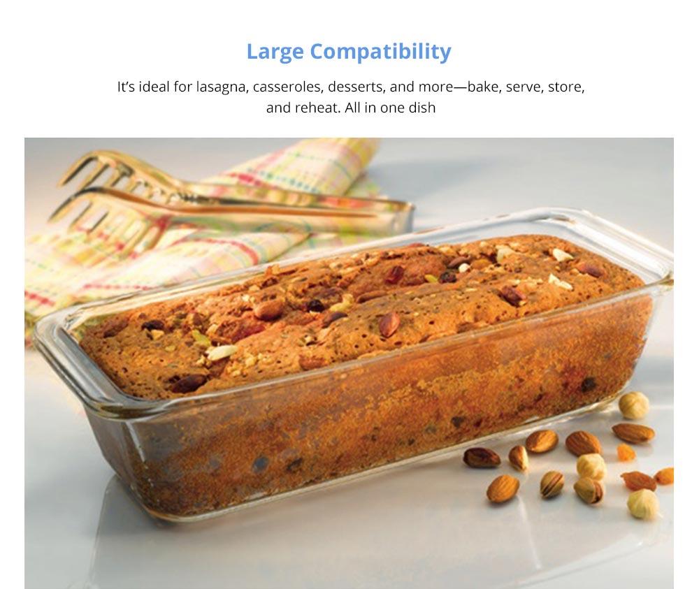 Nonstick Bakeware Glass Toast Pan, Kitchen Essential Premium Food Grade Borosilicate Glass Baking Dish for Toast Cake Baked Rice 7