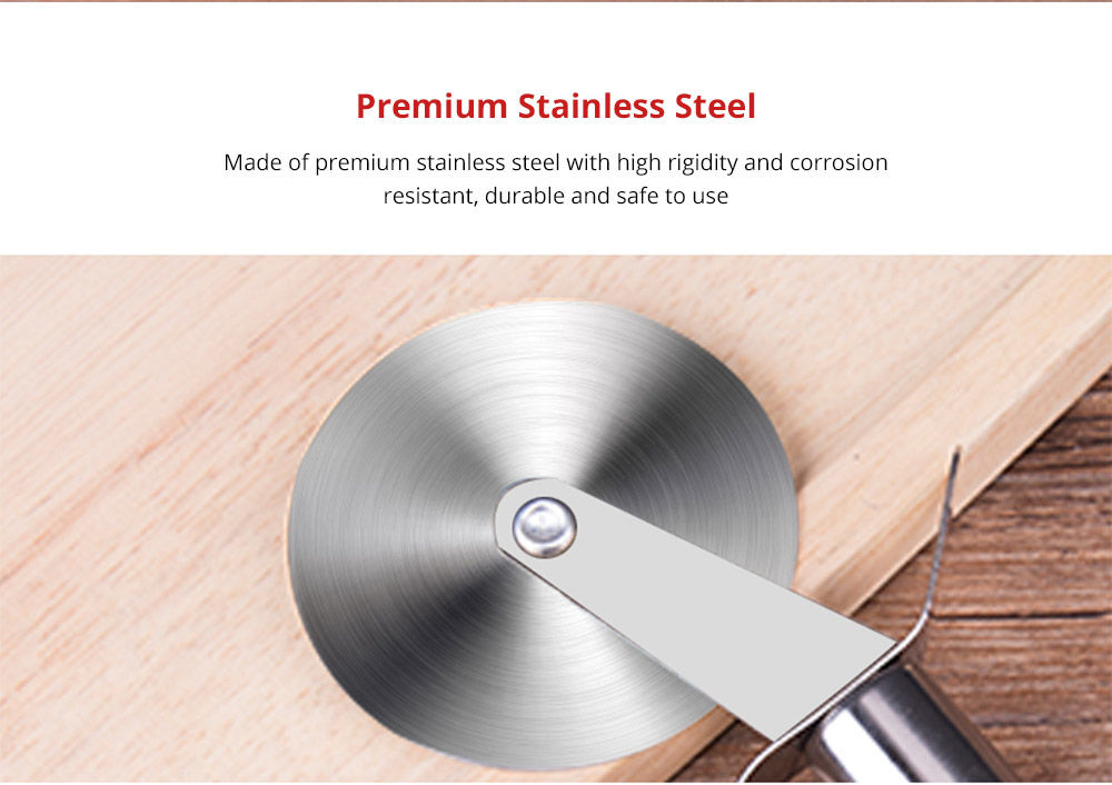 Premium Universal Kitchen Essential Pizza Wheel Durable Household Use Stainless Steel Dishwasher Safe Pizza Cutter with Comfortable Grip 7