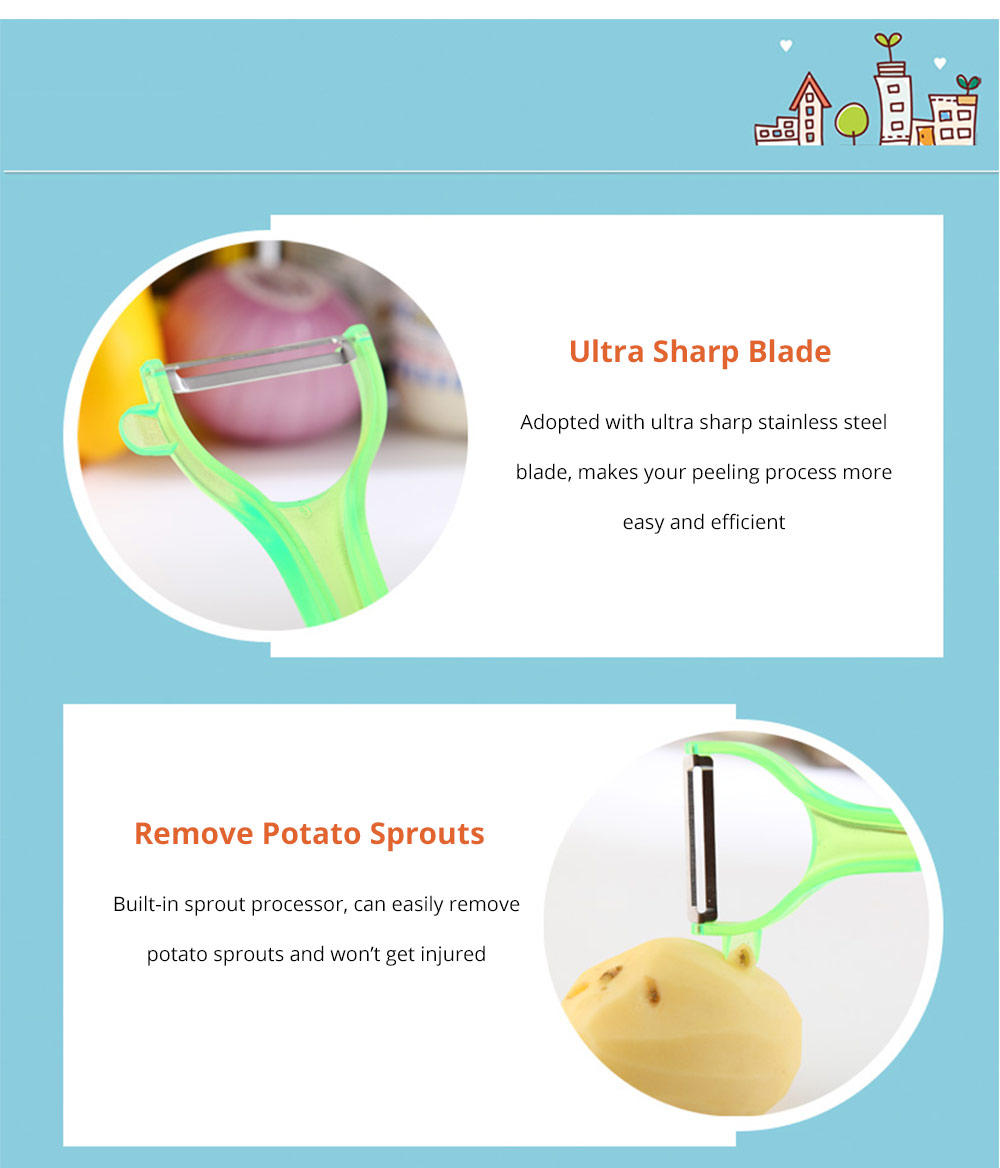 Peeler Remove Potato Sprout Peeler with Stainless Steel Ultra Blade for Vegetables Fruits Sprout Processor - Universal Kitchen Gadget 7