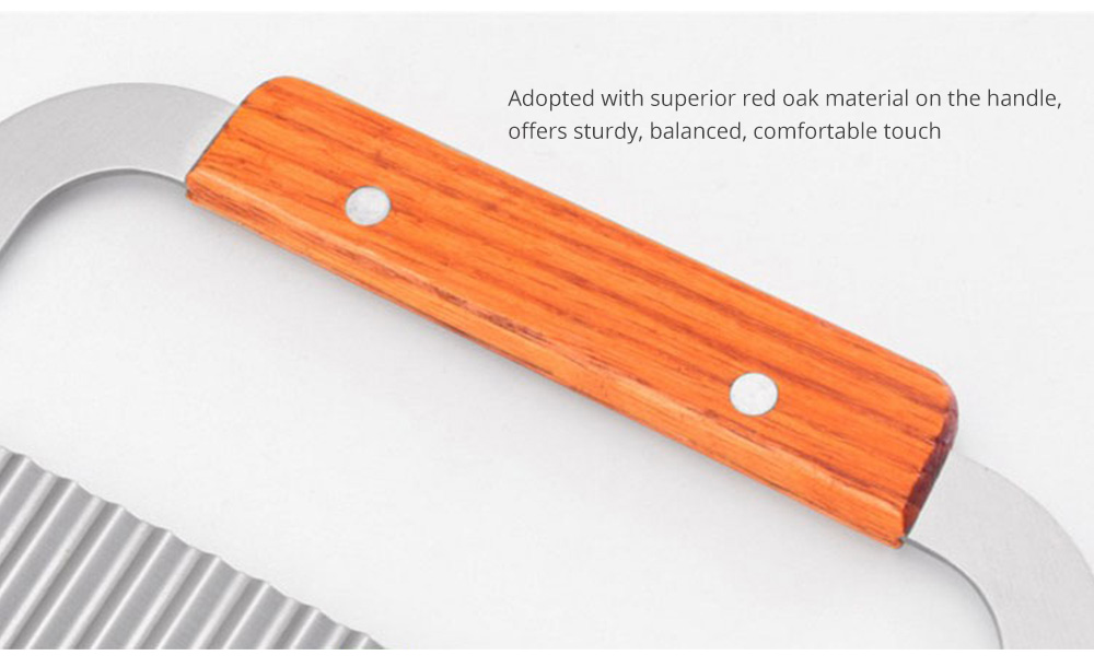 Universal Corrugated Knife for Vegetable Carrots Potato Cucumber, Kitchen Gadget Stainless Steel Wavy Cutter 7
