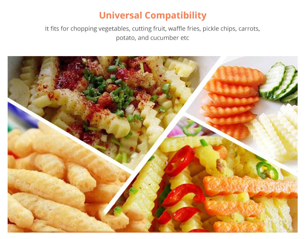 Universal Corrugated Knife for Vegetable Carrots Potato Cucumber, Kitchen Gadget Stainless Steel Wavy Cutter 8