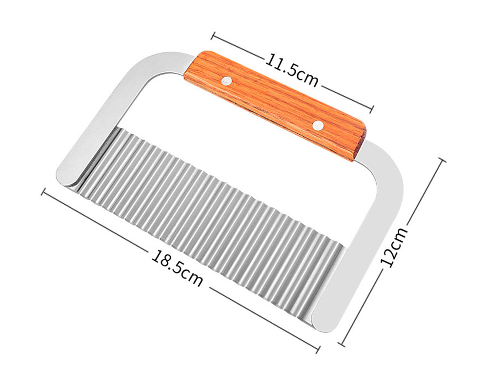 Universal Corrugated Knife for Vegetable Carrots Potato Cucumber, Kitchen Gadget Stainless Steel Wavy Cutter 12
