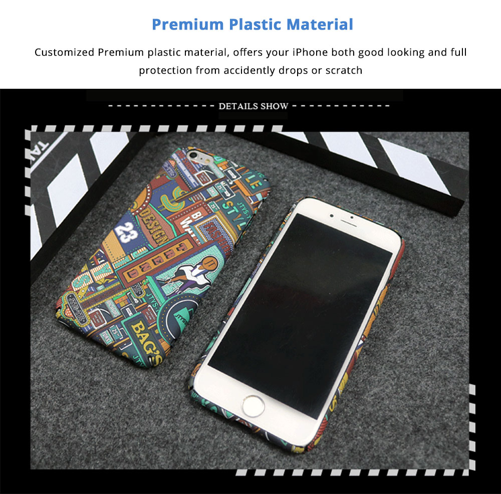 Fashionable Pattern Hard Shell Ultra-thin Phone PC Case, Creative Durable Slim Phone Cover Compatible for iPhone X, iPhone 8/Plus, iPhone 7/Plus, iPhone 6/6s/6 Plus/6S Plus 6