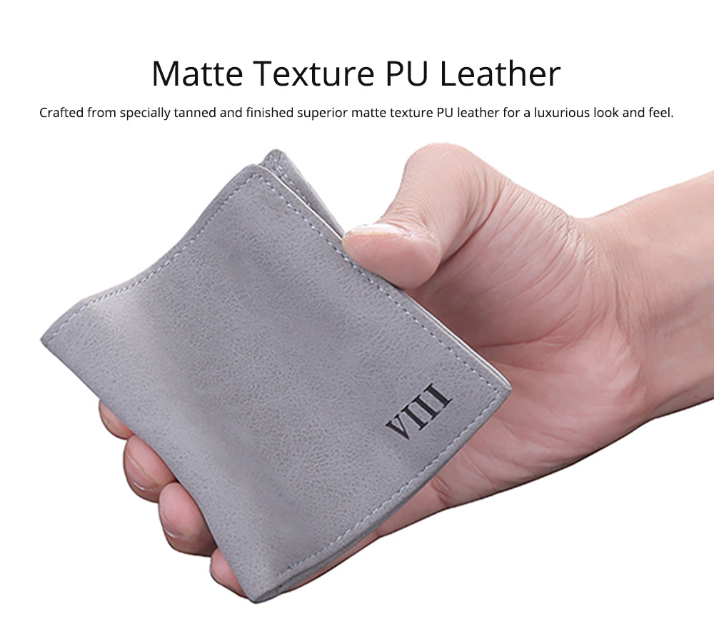 Men's Wallet - Matt Texture Soft Vintage, Lightweight Slim Stylish Wallets for Men with Multiple Compartments Card Slots 7