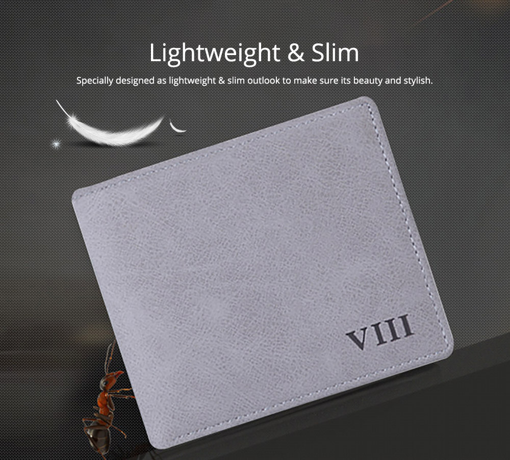 Men's Wallet - Matt Texture Soft Vintage, Lightweight Slim Stylish Wallets for Men with Multiple Compartments Card Slots 8